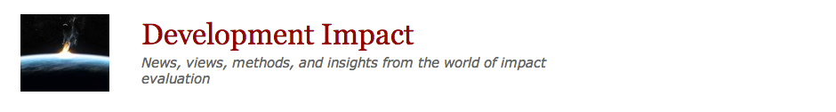 World Bank Development Impact Blog Discusses Laterite Paper on New Impact Evaluation Technique